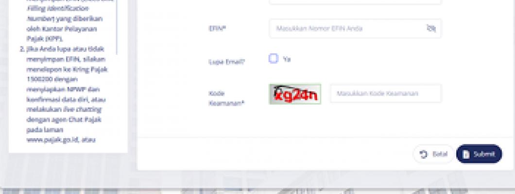 Lupa Password Efiling Kata Sandi Lapor Pajak Email DJP Online