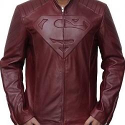 Jaket Kulit Superman